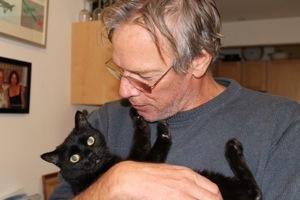 Steve and Bear: paws on face