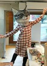 dancing cat head