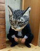 crouching cat head